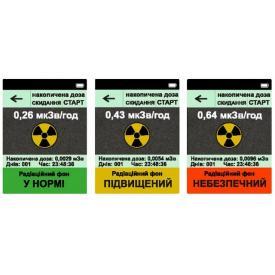 Нитрат-тестер и дозиметр ANMEZ Greentest Eco (Результат замера дозиметра)