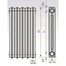 Радиатор чугунный Viadrus Kalor 3 H-350/160