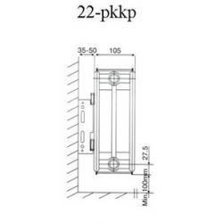 Радиатор стальной панельный GRANDINI тип 22