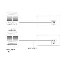 Термостат комнатный программируемый RODA RTW7 (Схема подключения)