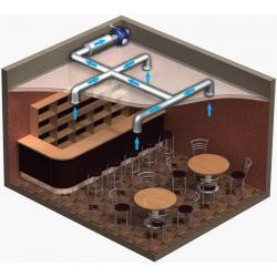 Вентилятор канальный центробежный ВЕНТС ВКМС 200 (Пример размещения)