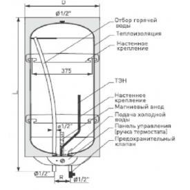 Водонагреватель электрический емкостной GALMET Neptun SG 120 (Схема)